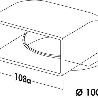 Naber N-UR 100 Omkeerstuk 90