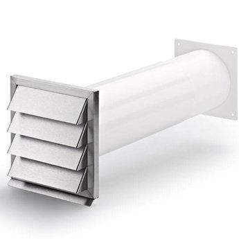 Naber Afzuigkap Muurdoorvoer Klima E 125 wit/Roestvrij staal