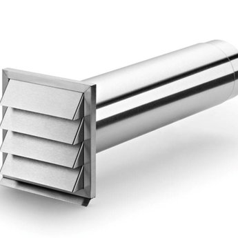 Naber E-Klima-E 125 muurdoorvoerunit, Roestvrij staal