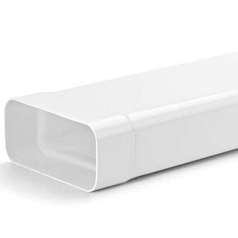 Naber MF-VRM 500 Systeem 125 vlakke buis, wit, 1000mm