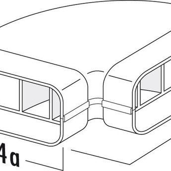 Naber MF-RBH 125 Buisbocht horizontaal 90