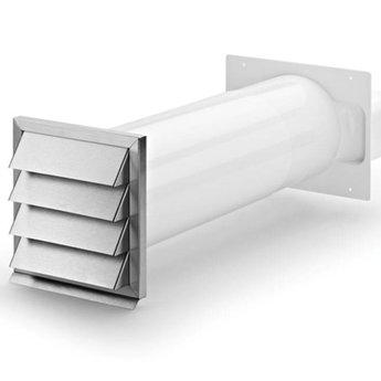 Muurdoorvoer Klima-E flow 150 Compair Flow 150, wit/roestvrij staal