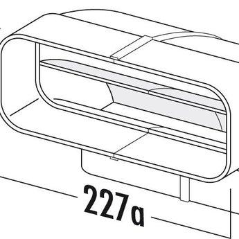 Naber F-RBV 150 Buisbocht verticaal 90°