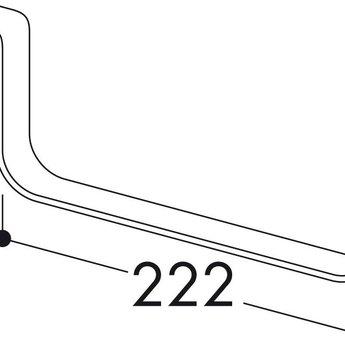 Naber F-RSS 150 Houder voor vlakke buizen, roestvrij staal