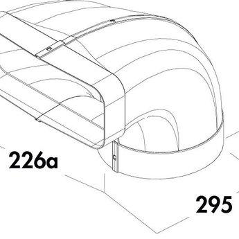 Naber F-Bion Omkeerstuk 90°- Voor directe aansluiting van de kap met aangevormde mof.