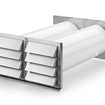 Naber E-Klima A/Z 150 luchtafvoer en luchttoevoer muurdoorvoerunit,