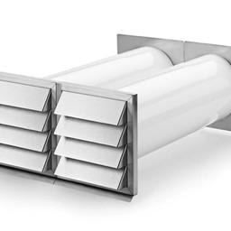 Naber E-Klima A/Z 150 luchtafvoer muurdoorvoerunit,