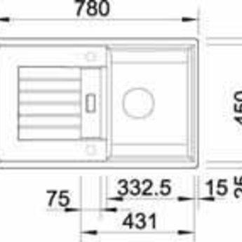 Blanco ZIA 45S SGR Manueel of Automatisch openen