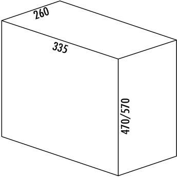 Naber Bio Single 30 DT. Afvalverzamelaars, alu grijs (32 liter)