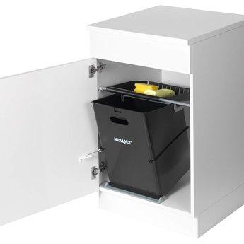 Naber Bio Single 30 DT. Afvalverzamelaars, alu grijs (26 liter)