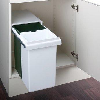Naber Double GW. Afvalverzamelaars, wit/groen