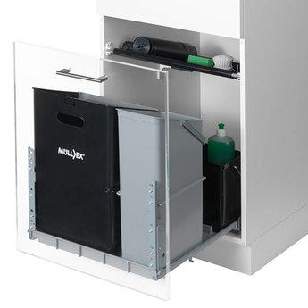 Naber Müllex Comfort 35/17/4/4. Afvalverzamelaars, antraciet/lichtgrijs