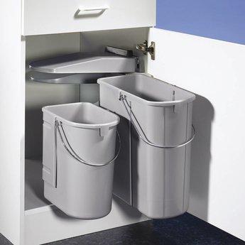 Wesco Öko 1. Afvalverzamelaars, alu grijs