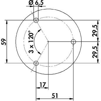 Naber Capitello 1. Console. Hoogte: 145 mm