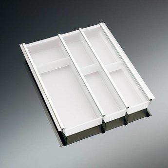 Naber Cuisio 45. Element voor 450 mm, wit- doorschijnend.
