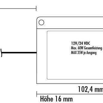Naber Flip LED Touch- schakelaar met dimmer, wit