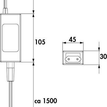 Naber Jarl 1 LED Set-3 zonder schakelaar