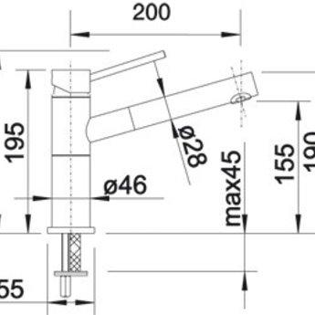 Blanco ALTA-S-F compact chroom / chromé
