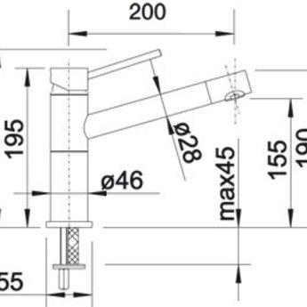 Blanco ALTA-F compact chroom / chromé