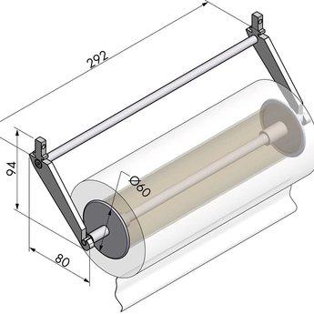 Naber Relingsysteem Alto Onda - Papierrolhouder