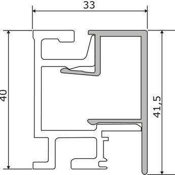 Naber Relingsysteem Linero MosaiQ Profielstrips Set-1,