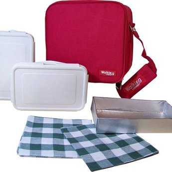 Lunchtas compleet (rood)