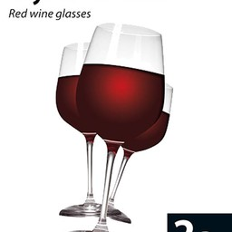 Rode wijn glazen (set van 2)