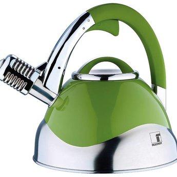 Roestvrijstalen microfoon-fluitketel (3 liter) groen