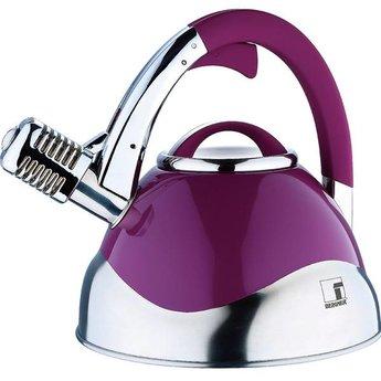 Roestvrijstalen microfoon-fluitketel (3 liter) lila