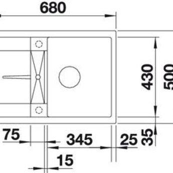 Blanco METRA 45S Compact SGR