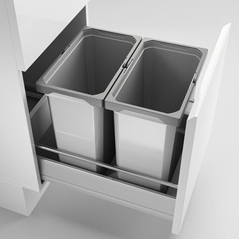 Naber Lade indeling Cox - Box 360 S/400-2, met biologisch deksel, lichtgrijs,