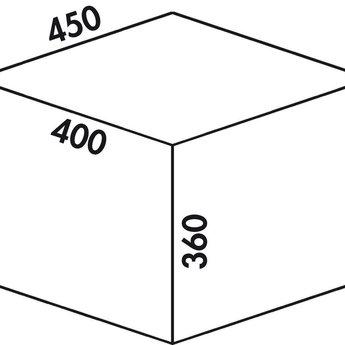Naber Cox - Box 360 S/450-3. met biologisch deksel, lichtgrijs.