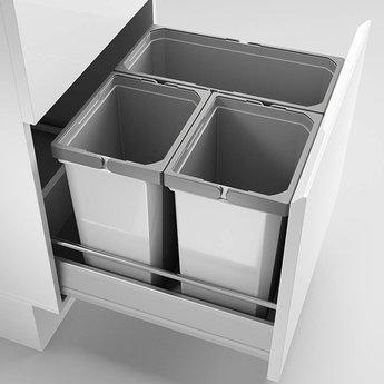 Naber Cox - Box 360 S/500-3. met biologisch deksel, lichtgrijs.