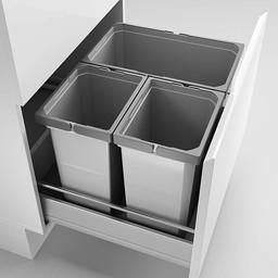 Naber Lade indeling - Cox - Box 360 S/600-3. zonder biologisch deksel, lichtgrijs.