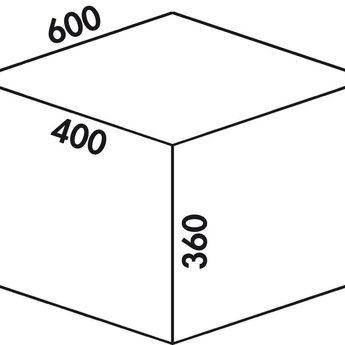 Naber Cox - Box 360 S/600-3. zonder biologisch deksel, lichtgrijs.