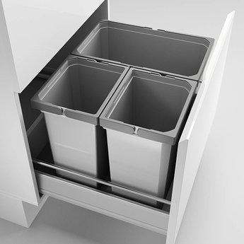 Naber Cox - Box 360 S/600-3. met biologisch deksel, lichtgrijs.