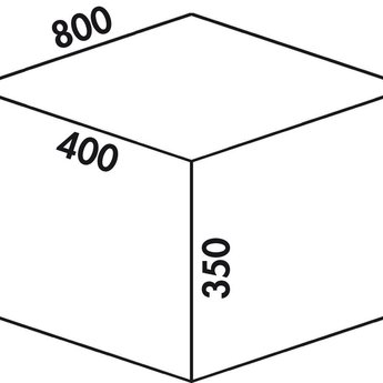 Naber Cox - Box 350 S/800-4. zonder biologisch deksel, lichtgrijs.