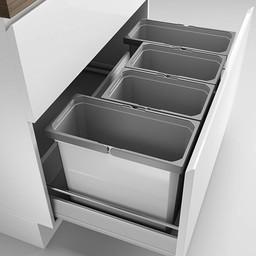 Naber Lade indeling - Cox - Box 350 S/900-4. zonder biologisch deksel, lichtgrijs.