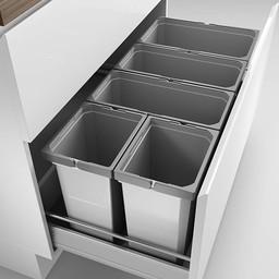 Naber Lade indeling - Cox - Box 350 S/1000-5. zonder biologisch deksel, lichtgrijs.