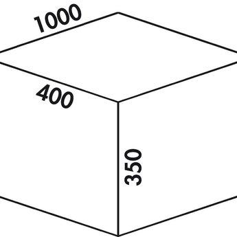Naber Cox - Box 350 S/1000-5. met biologisch deksel, lichtgrijs.