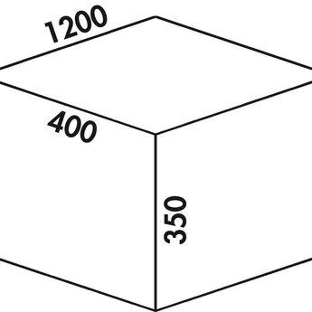 Naber Lade indeling Cox - Box 350 S/1200-6. zonder biologisch deksel, lichtgrijs.