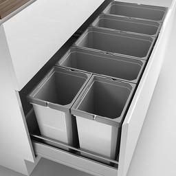 Naber Lade indeling - Cox - Box 350 S/1200-6. met biologisch deksel, lichtgrijs.