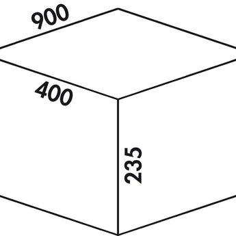 Naber Cox - Box 235 S/900-3. lichtgrijs.