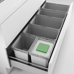 Naber Lade indeling - Cox - Box 235 S/1200-6 Bio. lichtgrijs.
