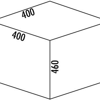 Naber Cox - Base 460 R/400-1. lichtgrijs, H 460 mm.