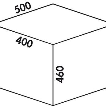 Naber Cox - Base 460 R/500-1. lichtgrijs, H 460 mm.