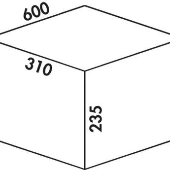 Naber Cox - Box 235 K/600-2, met biologisch deksel, lichtgrijs,
