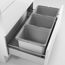Naber Lade indeling - Cox - Box 235 K/800-3. met biologisch deksel, lichtgrijs.