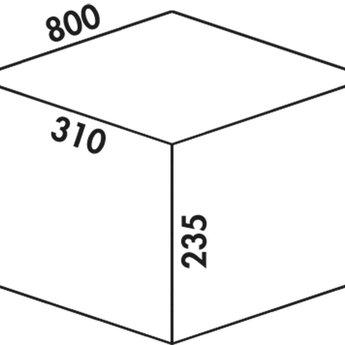 Naber Cox - Box 235 K/800-3. met biologisch deksel, lichtgrijs.