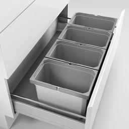 Naber Lade indeling - Cox - Box 235 K/900-4. met biologisch deksel, lichtgrijs.
